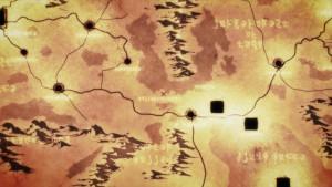 Стратегическая карта мира в онлайн игре в аниме Overlord(Владыка)