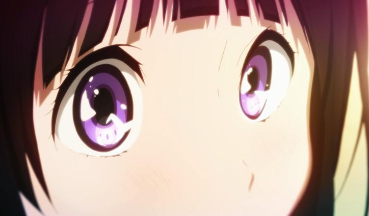 Читанда Эру с яркими красивыми горящими глазами из аниме Hyouka