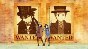 Detectives are ready в аниме Hyouka в эндинге