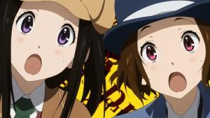 Surprised detectives в аниме Hyouka
