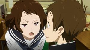 Maeko и Fukube - персонажи аниме Hyouka