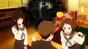 Hotaru Oreki (Хотару Ореки) смотрит на мир из серого угла (Hyouka)