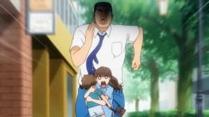 Такео гонится за женщиной