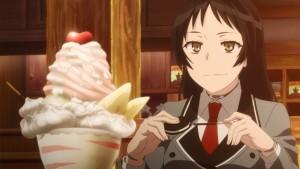 Аямэ развлекается с печенькой