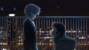 Юки и Кён на крыше в аниме Исчезновение Харухи Судзумии