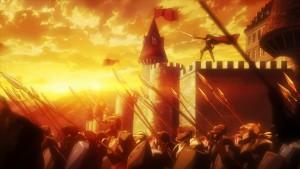 Герой ведет войско в бой