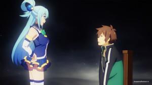 Первая встреча Аквы и Сато