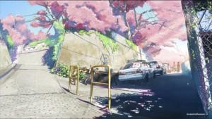 Улица и сакура