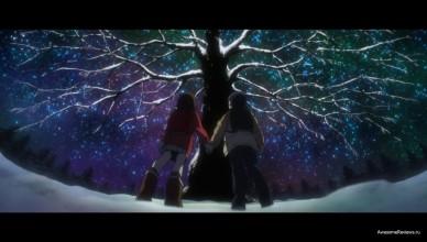 Под деревом, ночью.