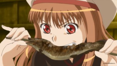Холо ест рыбу