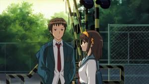 Диалог Харухи Судзумии(Haruhi Suzumiya) и Кёна(Kyon) у железнодорожного перехода в аниме Меланхолия Харухи Судзумии. Лучший монолог из всех что я слышал