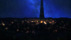 Ночной город из Danmachi