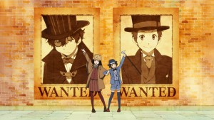 Detectives are ready в аниме Hyouka в эндинге