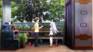 Поливка цветов Цукасой и Айлой