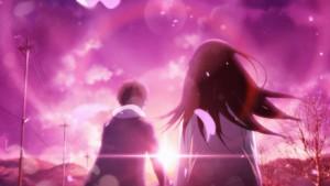 Hotaru and Chitanda Хотару и Читанда красивое фото на розовом фоне в аниме Hyouka