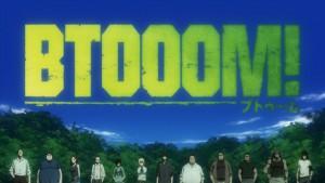 Логотип аниме Btooom! (Взрыв!)