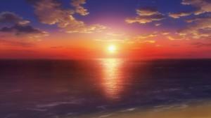Приятный закат