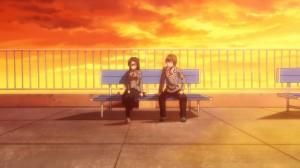 Окума и Аямэ на крыше