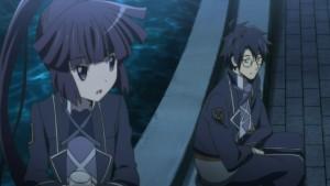 Акацуки и Широя во дворце