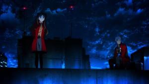 Синий мир с красными сполохами