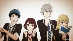 Главные герои аниме Ямада и семь ведьм