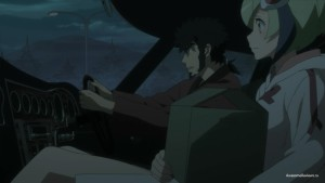 Кёма и Мира в машине