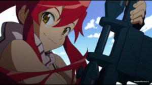 Йоко с винтовкой наперевес