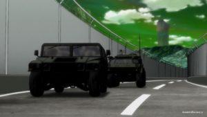 Машинки и зеленое небо