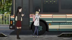 Подруги у автобуса