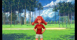 Ульянка на футбольном поле