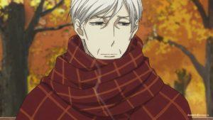 Якумо в шарфе