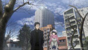Окабэ и Маюри в городе