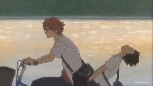 Макото и Чиаки на велосипеде