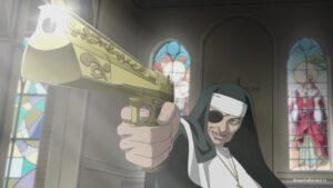 Монахиня с большим стволом